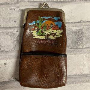 Arizona Cigarette Case Soft Brown Tourist Souvenir